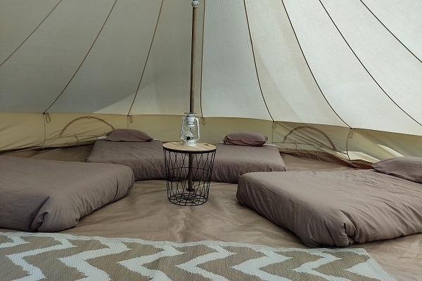Hebergement sous tentes - Création Tours2locs